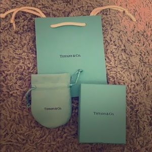 Tiffany & Co. gift bag, box, and pouch